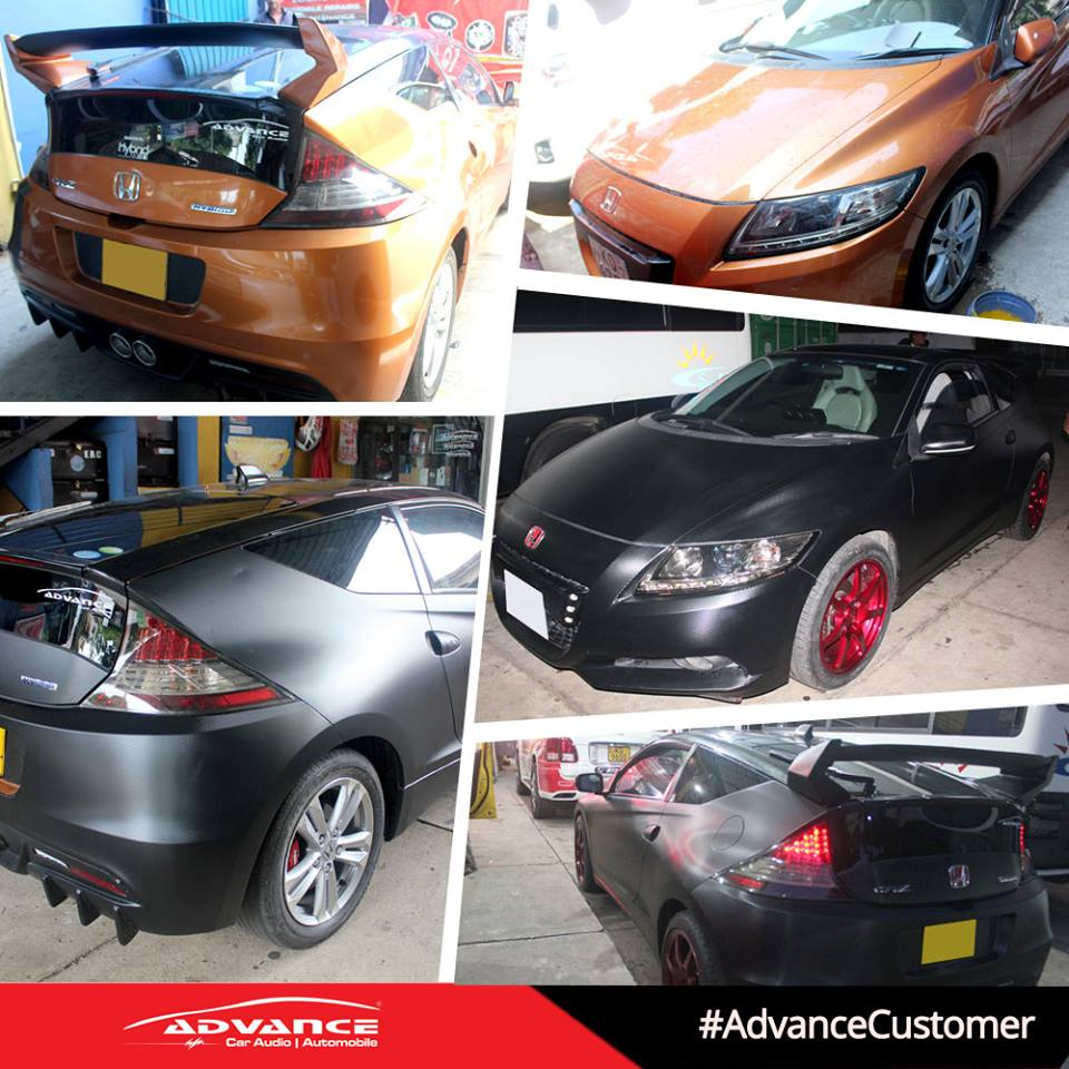Full Body Wrapping And Alloy Wheel Restoration Was Done On This Honda CRZ  By Advance Car Audio.